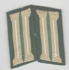 German Army WW2 INFANTRY  collar tabs  GREEN BACKGROUND a pair