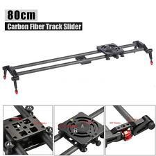 80CM DSLR DV Carbon Fiber Camera Track Dolly Rail Slider Video Stabilizer X4X8