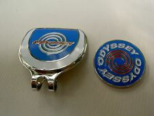 Golf Ball Marker Hat Clip ODYSSEY Blue -Japan