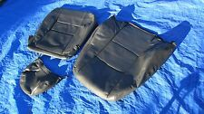 2000-2004 Volvo S40 V40 1.9T OEM Charcoal Driver Left Side Leather Seat Covers