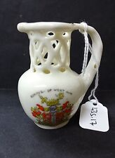 Dainty Ware China Model of a Puzzle Jug with Stratford Crest