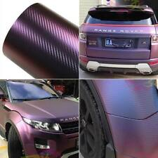 Chameleon Carbon Fiber Vinyl Film Wrap Car Sticker Body Films Red copper