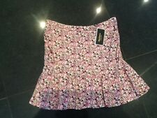 NWT Juicy Couture New & Gen. Ladies Pink Floral Pleated Skirt Size 4 (8/10) UK
