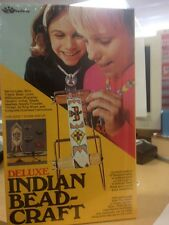 Vintage 1975 Walco Indian Bead Craft Kit Seslef Nee Old Stock