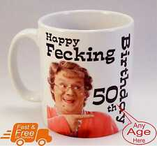 Mrs Browns Boys Personalised Birthday Mug, Gift Idea, 30th 40th 50th 60th etc'