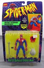Battle Ravaged Spider-Man Animated Series Secret Storage Backpack Collector Pin