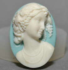 Lady Cameo 3D SILICONE MOULD Cupcake polymer clay chocolate resin fimo mold soap