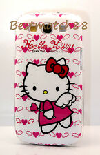 for Samsung Galaxy S3 hello kitty kitten angel w/ hot pink heart case cover/