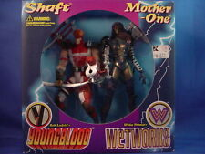 McFARLANE SPAWN YOUNGBLOOD WETWORKS SHAFT & MOTHER-ONE 2-PACK FIGURES SEALED!