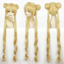 Girl Sailor Moon Cosplay Costumes Wigs wig double chignon yellow long lady wigs