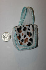 Barbie doll white cross shoulder bag tote purse animal print