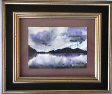 """Outstanding Original Watercolor """"Glacial Dawn"""" Signed Amy Forbes 1997"""