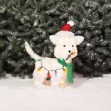 Holiday Time Fluffy Dog Light Sculpture Christmas Outdoor Yard Display