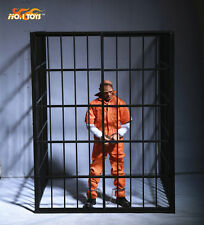 """1/6 Scale Soldier Scene Full Metal Prison Model For 12"""" Action Figure Body Doll"""