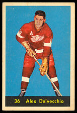 1960 61 PARKHURST HOCKEY #36 ALEX DELVECCHIO VG-EX DETROIT RED WINGS HOF CARD