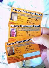 Ginger Discount Card - 2014/5 Edition PERFECT Gift for a ginger person