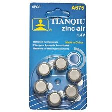 36 × A675 TIANQIU Hearing Aid Battery Brand New Factory Direct