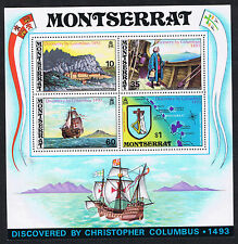 MONTSERRAT STAMPS 1973 Discovered by Christopher Columbus 1493 Mini-Sheet MS317