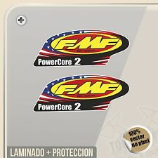 PEGATINA FMF EXHAUST POWER CORE 2 VINILO VINYL STICKER DECAL ADESIVI