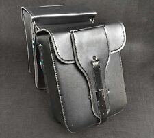 Universal Motorcycle Motorbike Panniers Luggage Side Bag Leather Saddlebag #05
