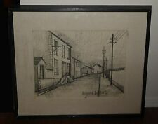 Vintage Street scene Etching Original Print Wall PICTURE by BERNARD BUFFET 52