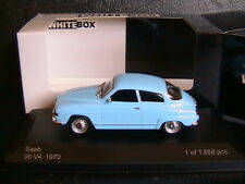 SAAB 96 V4 1970 LIGHT BLUE WHITEBOX WB029 1/43 BLEU CIEL BLAU WHITE BOX