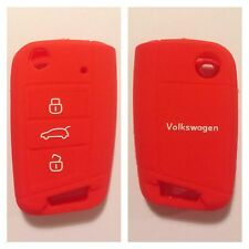 VW Volkswagen RED CAR FLIP KEY FOB COVER CASE MK7 GOLF 2013 2014 SILICONE