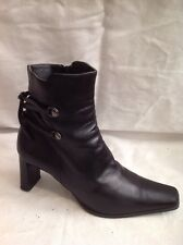 RIVA Black Ankle Leather Boots Size 36