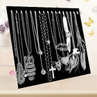 Necklace Jewelry Pendant Chain Show Display Holder Stand Neck Velvet Easel Black