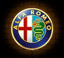ALFA ROMEO BADGE SIGN LED LIGHT BOX MAN CAVE GARAGE WORKSHOP GAMES ROOM BOY GIFT
