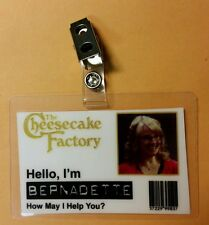 The Big Bang Theory ID Badge- Cheesecake Factory Bernadette costume cosplay