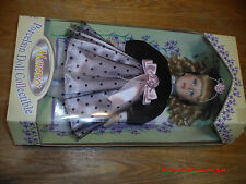 """1998 Collectible Genuine Porcelain Dress Doll Memories with Stand 16"""""""