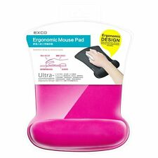 EXCO - Ergonomic Mouse Pad with Memory Wrist Rest (Pink)
