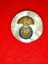 WWI MOTHER OF PEARL BRITISH ARMY SWEETHEART CAP BADGE/MEDAL/BROOCH NORTH'D FUS