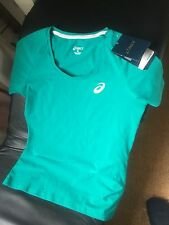 Asics Women's T Shirt Emerald Green New With Tags Size M