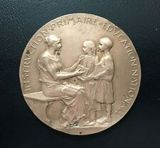 1893 BRONZE MEDAL BY OSCAR ROTY - NATIONAL PRIMARY EDUCATION / M74