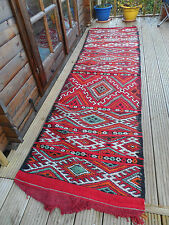 Runner Boho Moroccan Carpet Rug Patterned Kilim Berber Ethnic Genuine Vintage CV