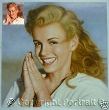Custom Portrait Oil Painting Commission from Photo Art HandPainted Canvas Signed