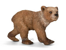 Schleich 14687 Grizzly Bear Cub Toy Wild Animal Figurine - NIP