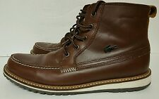 Lacoste Men's boots, size US size 7.5 brown ankle boot