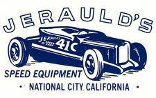 JERAULD'S SPEED EQUIPMENT NATIONAL CITY HOT RAT ROD DECAL VINTAGE LOOK STICKER