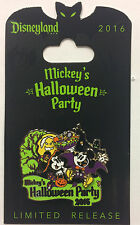 Disneyland 2016 Mickey's Halloween Party Dracula Mickey & Witch Minnie Logo Pin