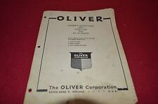 Oliver Tractor 550 Farm Wagon Dealer's Parts Book Manual BVPA