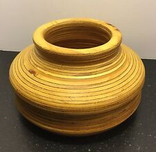 Handmade Signed Turned Wooden Bowl by Mort Tomson