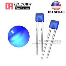 100pcs 2x3x4mm Diffused Blue Light Rectangle Rectangular Square LED Diodes USA
