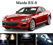 Xenon White Vanity / Sun visor LED light Bulbs for Mazda RX-8 RX8 (4 Pcs)