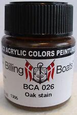 Billing Boats BCA 026 Oak Stain Acrylic Model Boat Paint 22ml Plastic Bottle T48