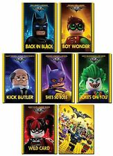 THE LEGO BATMAN Movie 7 Card Promo Set - Joker Harley Quinn Robin Batgirl Alfred