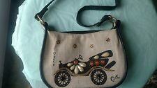 1950's 60's Vtg Enid Collins Purse - MODEL T, Tote  Stamped, Rhinestone