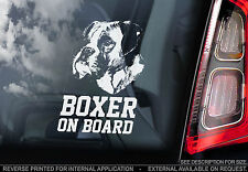 Boxer Dog - Car Window Sticker - Sign Art Print German Deutscher On Board - TYP1